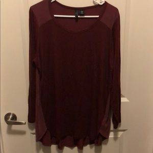 Garnet Long Sleeve Tunic Top
